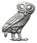 미네르바의 부엉이는 로마 신화에서 미네르바와 항상 함께 다니는 신조(神鳥)인 부엉이를 말하는데 지혜의 상징이다. (출처:wikipedia)